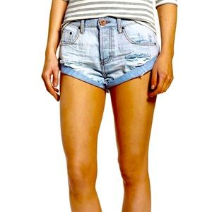 One Teaspoon Brando Bandits Low Waist Denim Short